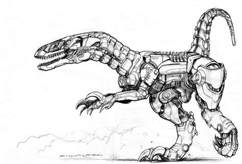 black market robot raptor by chuckwalton on deviantart