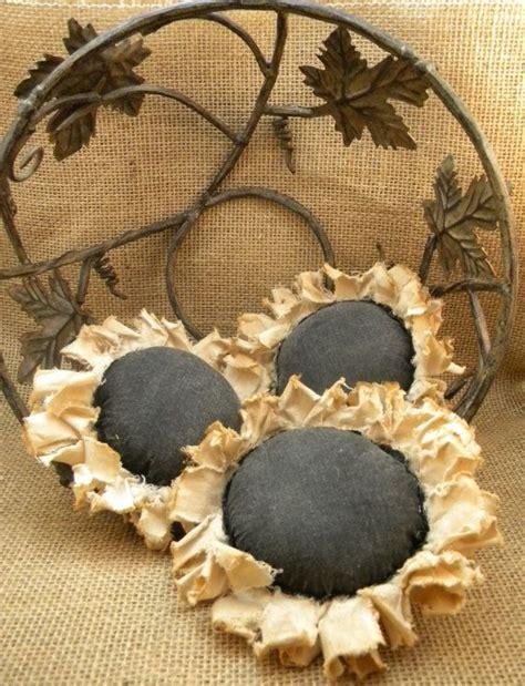 Handmade Fillers - primitive sunflower ornies bowl filler fall gift