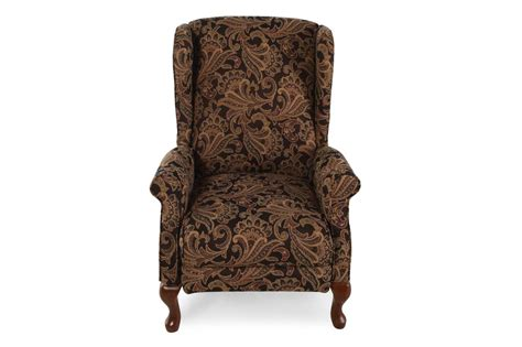 floral recliner floral tapestry contemporary 29 quot recliner mathis