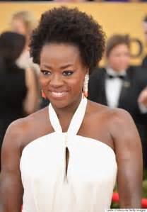 coiffed hairstyles executive viola davis natural hair at the 2015 sag awards is her