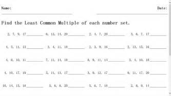 my homework lesson 5 least common multiple