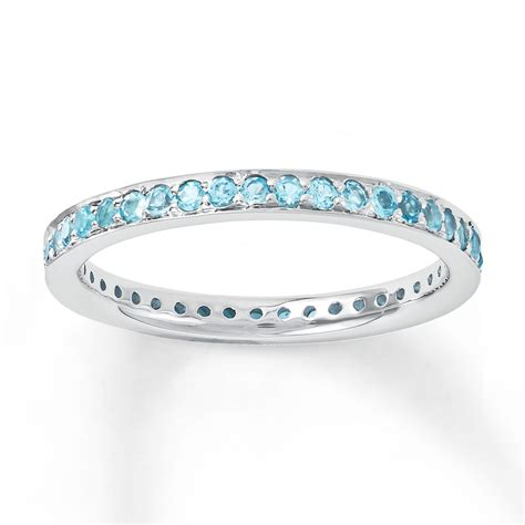 jared stackable ring blue topaz sterling silver