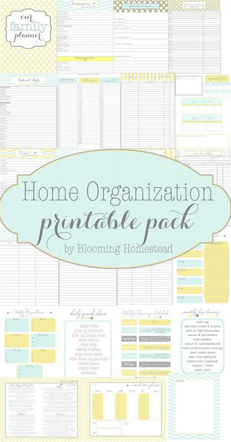 organized home printable menu planner home organization printables menu planners cleaning