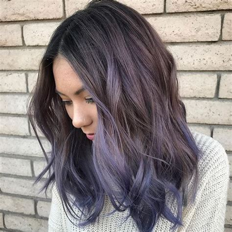 brunette hair gray riots purple ombre carlyscissorhandss from