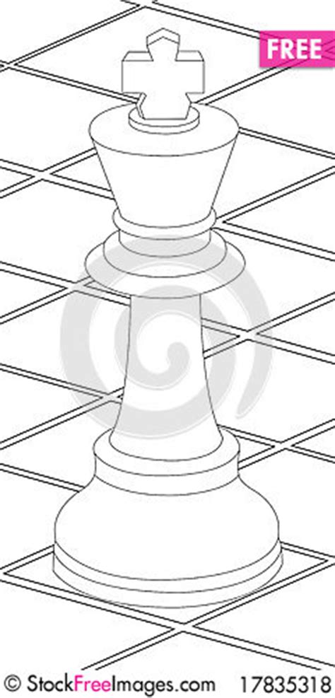 chess king coloring page chess table and king coloring page free stock images
