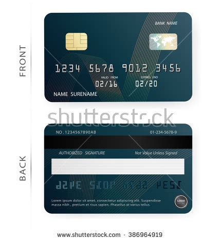 Blank Credit Card Stock Images Royalty Free Images Vectors Shutterstock Debit Card Design Template