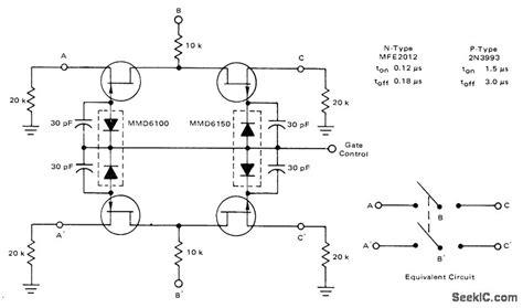 fet transistor relay dpdt fet basic circuit circuit diagram seekic