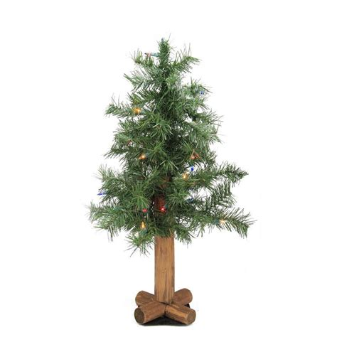 2 pre lit woodland alpine artificial christmas tree