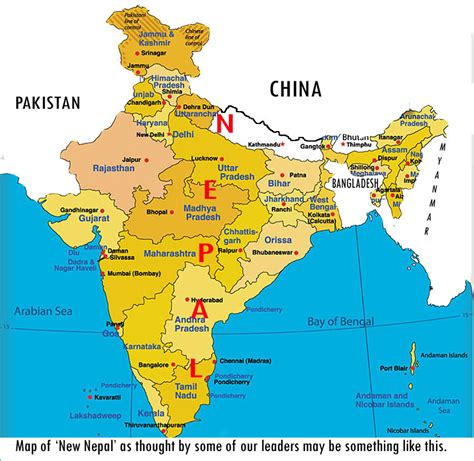 India Nepal Map by Merging Nepal And India As New Nepal Border Nepal Buddhi