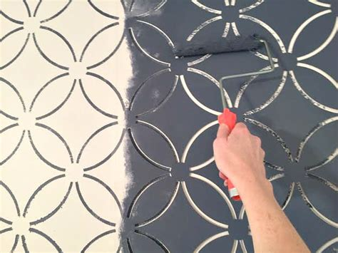Stencil Or Wallpaper Can You Tell The Difference Stylemutt Home Your Home Decor Stencil Templates For Painting