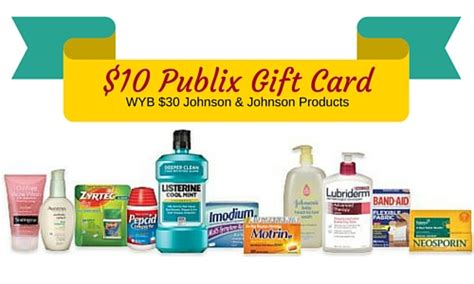 Where To Buy Publix Gift Cards - 10 publix gift card wyb 30 johnson johnson products southern savers