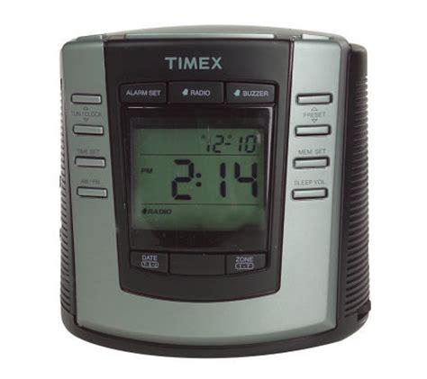 timex auto set dual alarm digital clock radio qvc