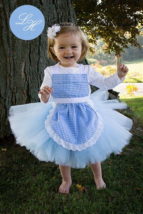 Handmade Dorothy Costume - dorothy tutu apron set tutu handmade blue