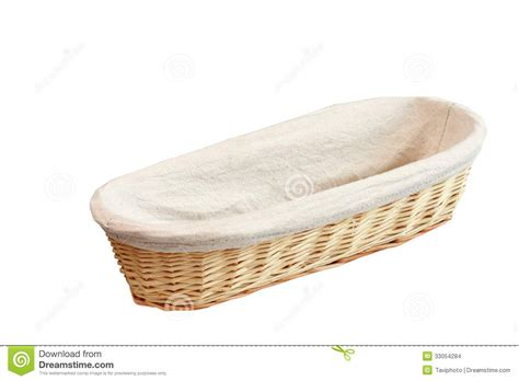 Handmade White Bread - wood basket for bread stock images image 33054284
