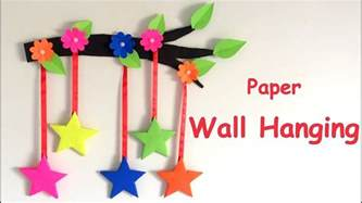 Paper Hanging Crafts - diy wall hanging from paper paper craft card board