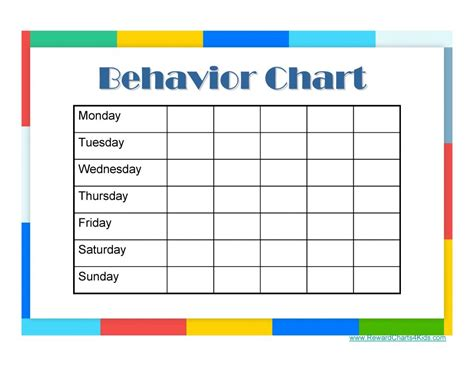 behavior chart templates 9 free behavior chart template word pdf docx