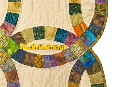 Extra Fine Batik Double Wedding Ring Quilt Photo 7