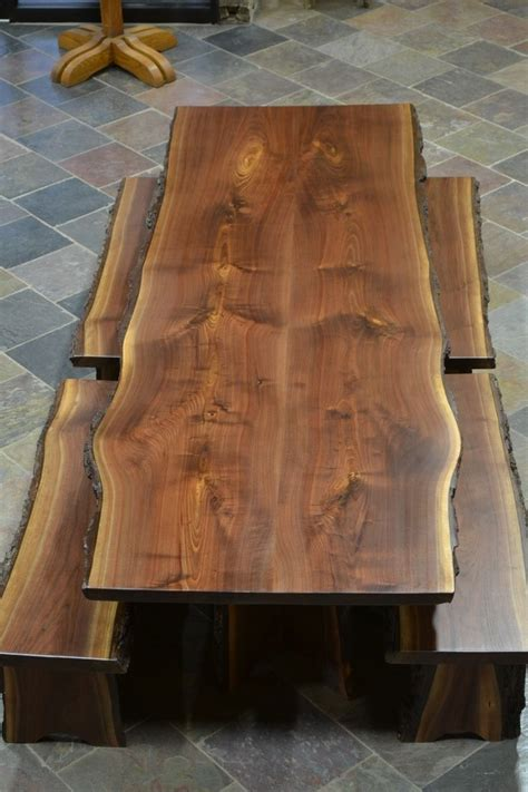 lumber for table top custom made live edge walnut slab dining table beth