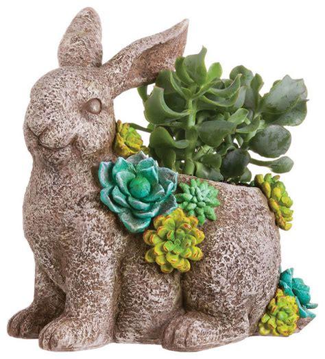 Rabbit Planter by Succulent Garden Rabbit Planter Statue