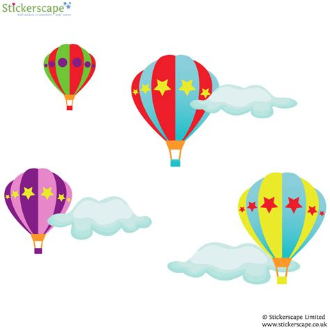 air balloon wall stickers transport wall stickers