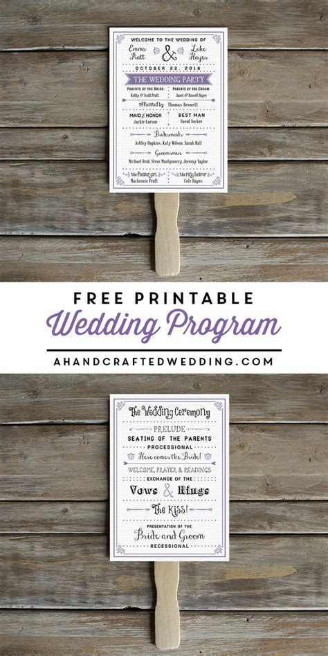 wedding program fans free printable wedding program br 246 llop och inspiration