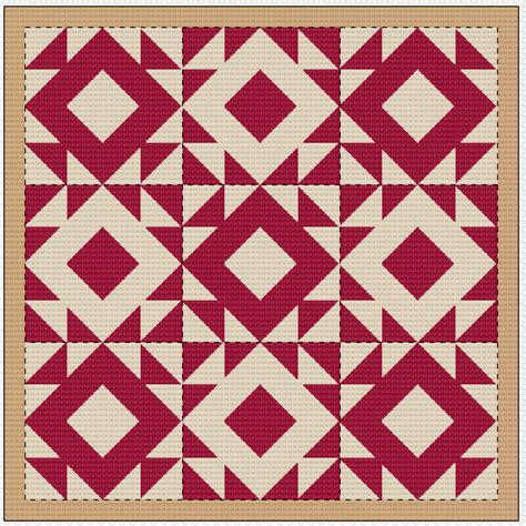Cross Stitch Quilt Block Patterns by Cross Stitch Pattern Quilt Block Mosaic