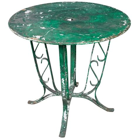 Table L Green by 1920s Green Garden Table For Sale At 1stdibs