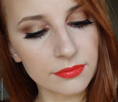 Maybelline Mascara Veh Black V2 copper gold shimmery summer makeup with orange adjusting