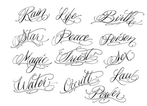 25 best ideas about cursive fonts for tattoos on