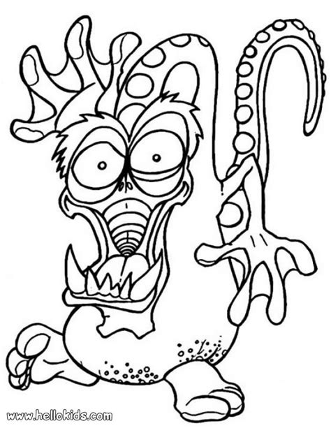 scary dragon monster coloring pages hellokids com