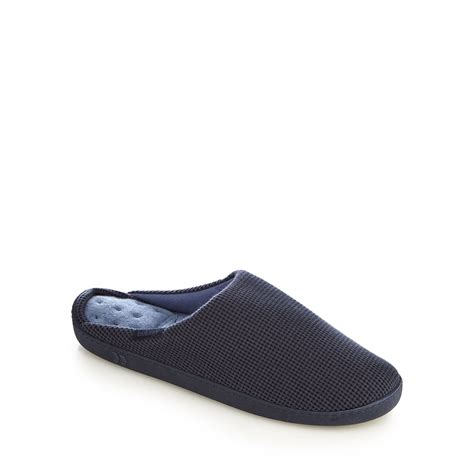 debenhams slippers totes mens navy waffle pillowstep mule slippers from