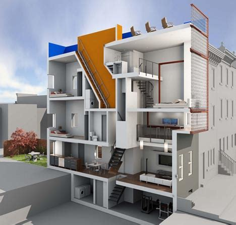 Modern Townhouse Plans Private Condo Natural Light Luxury Townhouse Living