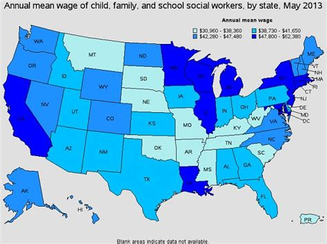 best states to work in industrial psychology salary 2015