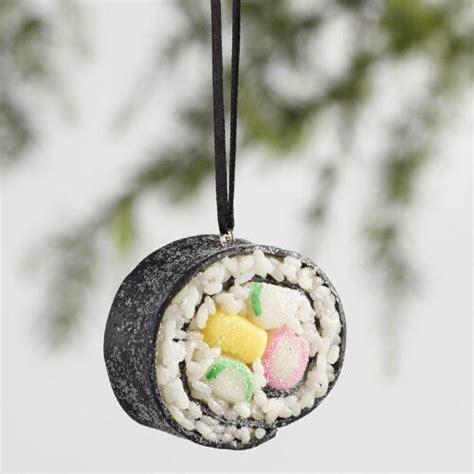 clay sushi ornaments set of 3 world market