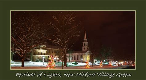 lighting the christmas trees in new milford ct 2012