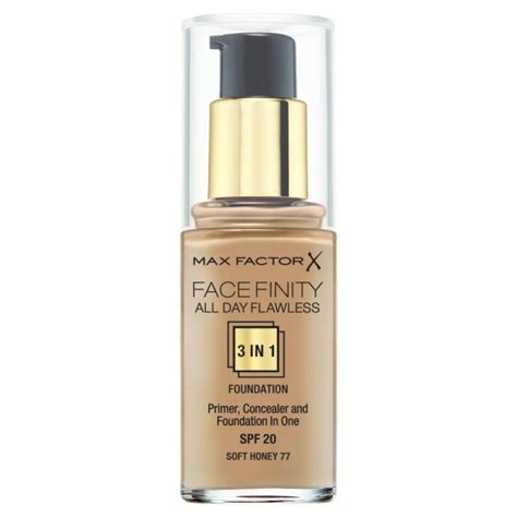 Max Factorx Finity All Day Primer Foundation max factor facefinity all day flawless 3 in 1 foundation of cosmetics