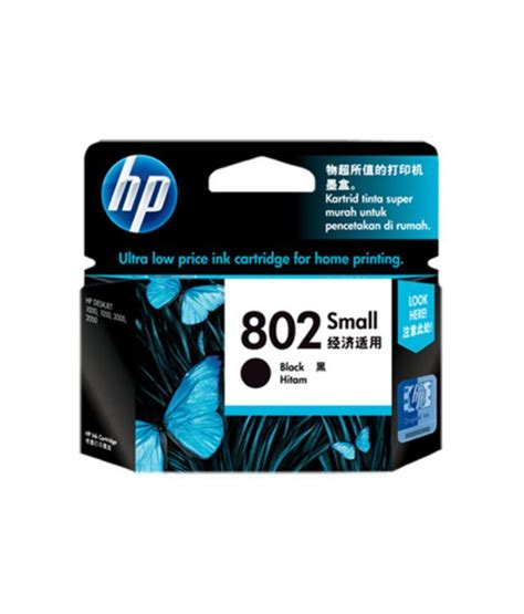 Hp 802 Black By Ok Mart hp 802 small black ink cartridge buy hp 802 small black