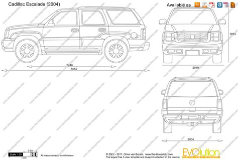 eps format to dwg the blueprints com vector drawing cadillac escalade