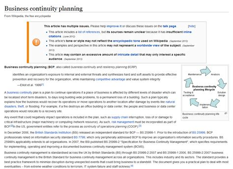 supplier contingency plan template business continuity planning