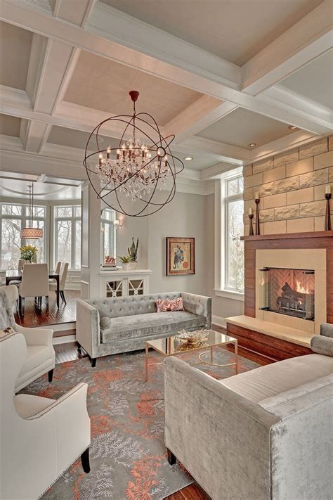 living room ceilings add personality to your interior with a coffered ceiling