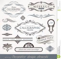 design elements creating style through calligraphic design elements page decor royalty free stock photo image 19536525