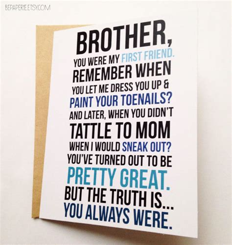 printable birthday cards for little brother little brother birthday card for messages best free