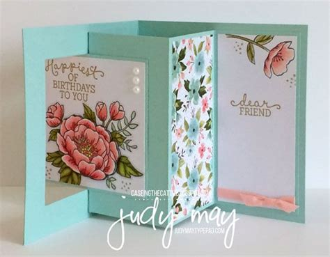 fancy card template idea stin up birthday blooms birthday bouquet dsp lever