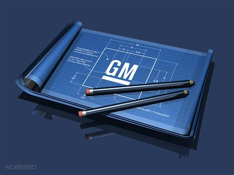 Stock illustrations featuring the GM (General Motors) logo