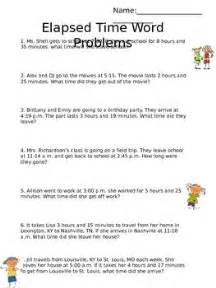 this worksheet includes word problems related to elapsed