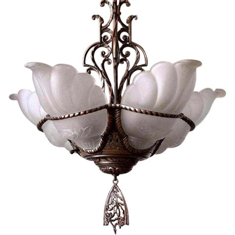 Chandelier L Shade Covers Vintage Markel 5 Light Slip Shade Chandelier Light Fixture Sold Ruby