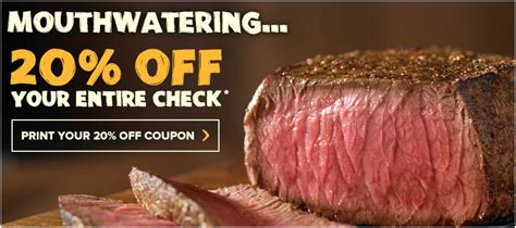 Outback Gift Card Discount - outback coupon 20 off entire check print yours now