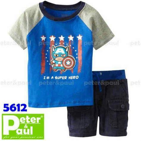 Baju Setelan Kaos Anak Laki Laki 11 jual baju anak laki laki setelan anak pipo captain