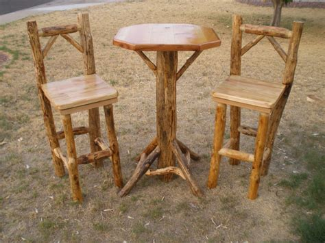 log pub table and chairs images