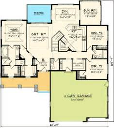 house plans with room plan w89852ah northwest craftsman ranch house plans